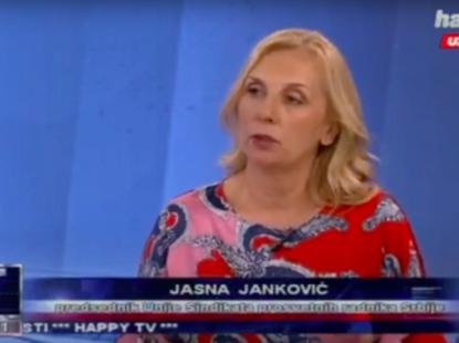 Телемастер, гост Јасна Јанковић – председник Уније СПРС