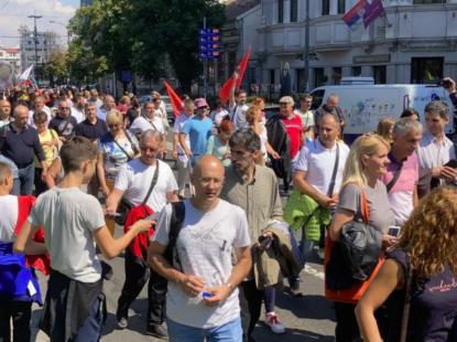 Протест просветара у Београду: Веће плате и мање ученика у разредима